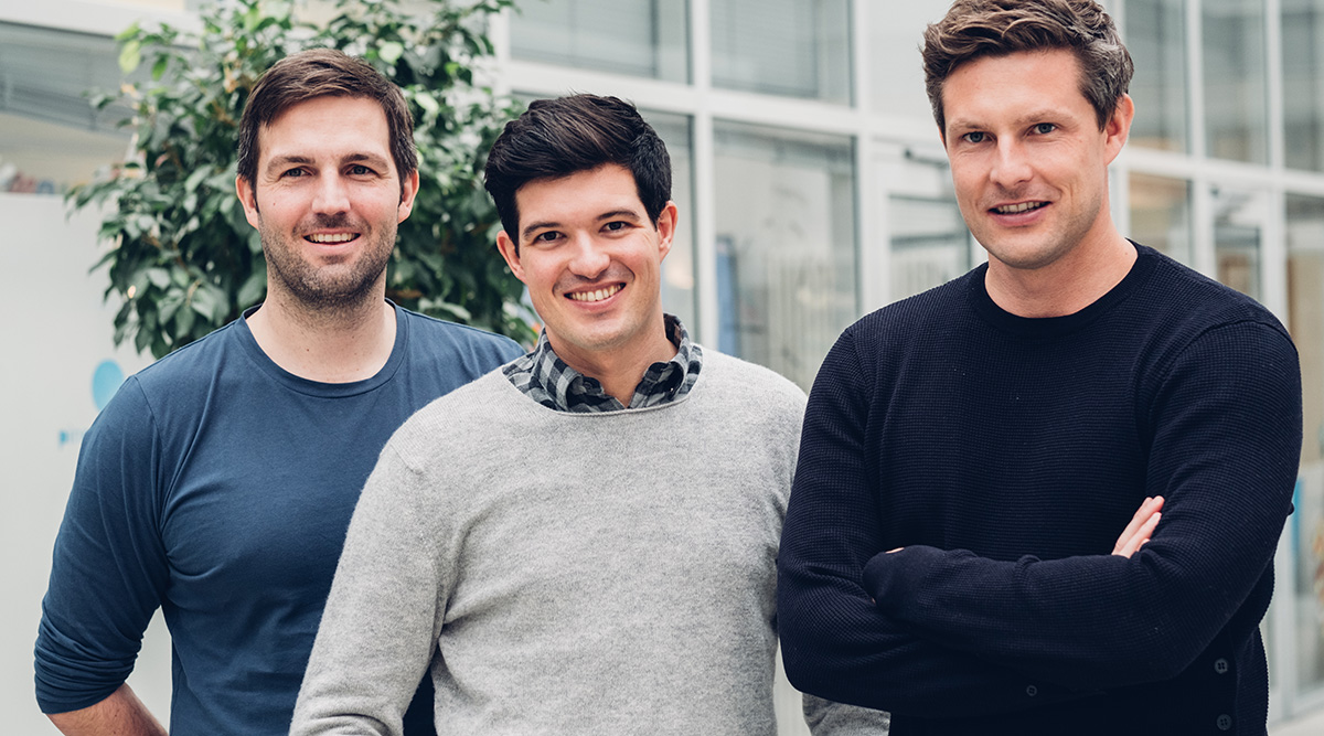 Die Gründer Sven-Oliver Pink, Florian Michajlezko, Dr. Oliver Steinki (von links nach rechts).